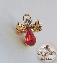 Rhinestone Vintage Jewelry Angel Pin by DLSpecialties on Etsy