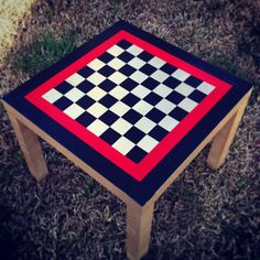 Chessboard made from duct tape and an old IKEA table...my son and I did this(: