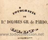 Dolores Gil de Pardo #photography @Qomomolo (via www.todocoleccion...) | Fotografia Dª Dolores Gil de Pardo. Olot. Gerona. Retrato Caballero. Ver Reverso. Tarjeta de visita.