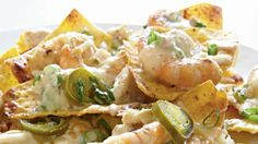 Shrimp-and-Crab Nachos   Enjoy the game at home with some of our favorite appetizers, burgers, and sides.
