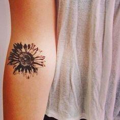http://tattoomagz.com/girls-body-sunflowers-tattoos/womens-small-arms-sunflower-tattoo/