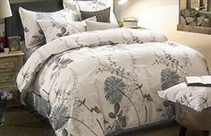 3 Piece Duvet Cover and Pillow Shams Bedding Set, 100% Co...