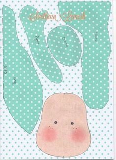 felt girl doll pattern idea body shape craft project