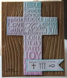 """Emboss and cut out; ink; put """"Happy Easter"""" inside."""