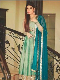 Pakistani Bridal Dresses, Pakistani Dress Design, Pakistani Suits, Punjabi Wedding, Dress Indian Style, Indian Outfits, Indian Clothes, Anarkali Dress, Anarkali Suits
