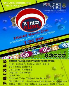 Tonight MARCH 27TH 7:30PM UNTIL | BINGO NIGHT @ THE CANTEEN #Tortola #BVI