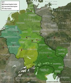 Topographic map of the Rhine river watershed | Europe - Ancestors ...