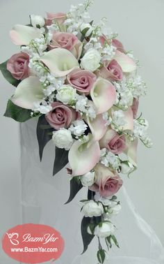 Latest No Cost Bridal Bouquets calla lillies Thoughts Probably the most crucial bridal dress accessories, the actual engagement bride's bouquet, is ready in line wi. Cascading Wedding Bouquets, Cascade Bouquet, Bride Bouquets, Bridal Flowers, Red Rose Bouquet, Rose Wedding Bouquet, Floral Wedding, Wedding Colors, Boquette Wedding