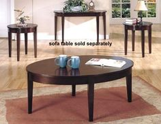 3 pcs Espresso Finish Wood Coffee  2 Occasional End Tables Set >>> To view further for this item, visit the image link.