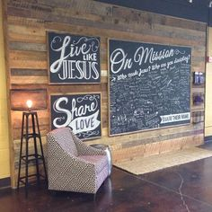 This is City Bible Church in Portland, Or. My home church. LOVE this wall!!!