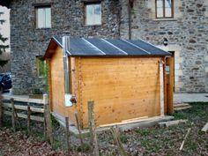 Sala de calderas en una caseta