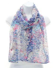 Monet Poppy Scarf // soft, sheer, delicate, feminine, designer wears #wearabledesign