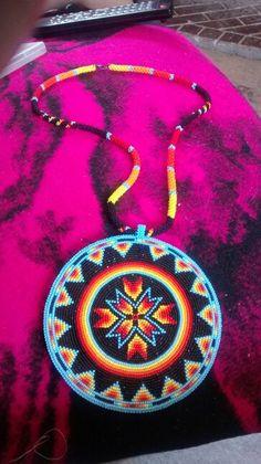 Full beaded 5 1/2 in circle medallion