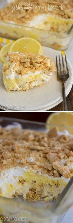 No Bake Golden Oreo Lemon Dessert
