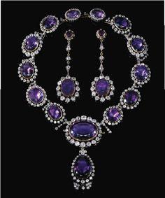 Royal Family of Bavaria jewels Victorian Jewelry, Antique Jewelry, Vintage Jewelry, Bijoux Design, Jewelry Design, Jewelry Accessories, Royal Jewelry, Luxury Jewelry, Amethyst Jewelry