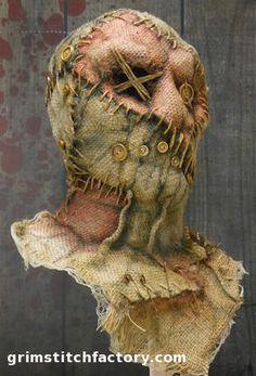 This Photo was uploaded by ghostcinderella. Halloween Prop, Retro Halloween, Halloween School Treats, Halloween Yard Decorations, Halloween Crafts, Halloween Costumes, Halloween Stuff, Scarecrow Mask, Artistic Make Up