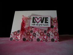 Handmade valentine card by Rebecca Yahrling using the Love From Me digital set from Verve. #vervestamps