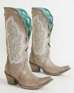 Corral Rhinestone Leather Western Boot - Women's Shoes in LD Silver Wedding Cowboy Boots, Cowgirl Boots, Westerns, Over Boots, Custom Boots, Bride Shoes, Boots For Sale, Christen, Crazy Shoes