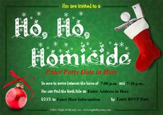 download an invite for holiday murder mystery party