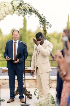 Our hearts are melting over this moment captured of a groom seeing his bride walk down the aisle! Groom Crying, Wedding First Look, Chic Wedding, Walking Down The Aisle, Wedding Moments, New Image, Destination Wedding, Wedding Photography, Wedding