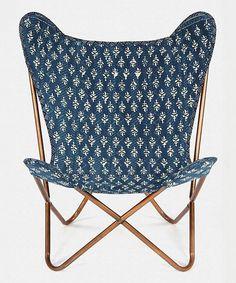 DIY inspiration-Indigo Flower Kantha Butterfly Chair