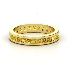 Brooke Eternity Band, Yellow Gold Ring with Citrine from Gemvara