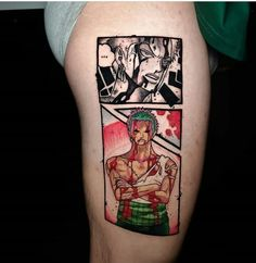 Whooo awesome 🔥 I love tattoo ❤ credit @carlospovartattoo 🔥 Follow me and Tag your. Otaku Friends to the best Anime Tattoo account 😍🆒… Gamer Tattoos, Cartoon Tattoos, Anime Tattoos, One Piece Tattoos, Love Tattoos, Tatoos, Tatuagem One Piece, Naruto Tattoo, One Piece Manga