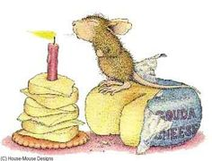 House Mouse Designs- Have a gouda birthday! Happy Birthday Images, Birthday Messages, Happy Birthday Wishes, Birthday Greetings, Birthday Cards, House Mouse Stamps, Mouse Pictures, Birthday Clipart, Cute Mouse