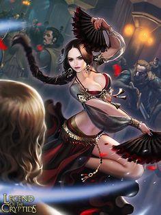 Artist: Unknown - Title: Unknown - Card: Deadly Dancer Sheena (Fanblade)