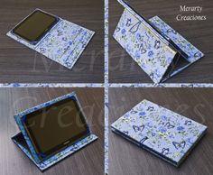 """Funda para tablet de 10"""" realizada con carton y tela.                                                                                                                                                                                 Más"""