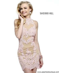 Sherri Hill Short Homecoming Dress 21186 at Peaches Boutique