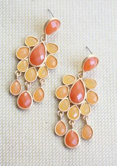 Season Of Love Earrings In Tangerine | Modern Vintage Earrings | Modern Vintage Jewelry