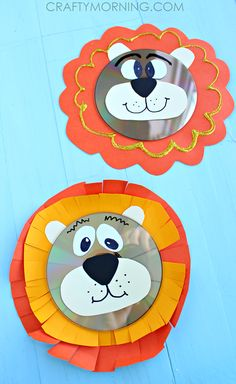 Recycled CD Lion Craft for Kids - Crafty Morning