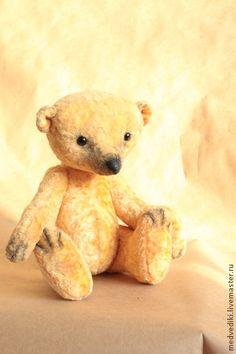Медведь Жорик - жёлтый,винтажный медведь,авторский медведь,авторский мишка