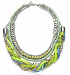 Electric Yellow Rope Statement Necklace
