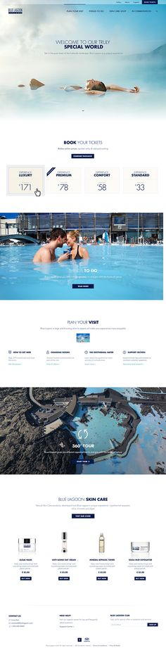 Blue Lagoon Iceland - Front page, gallery and compare by Kosmos & Kaos, via Behance