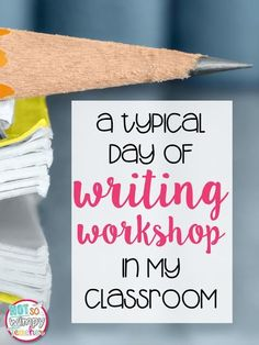 Teaching writing skills in the classroom is essential! Check out this simple writer's workshop model!