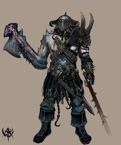 Warhammer chaos marauder concept art