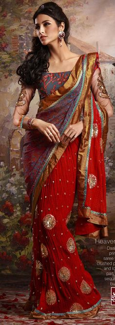 Designer Indian Sarees - attraction in india | places in india to visit | india visiting