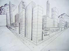 2-Point Perspective City student work