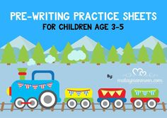 PRE-WRITING PRACTICE FOR KIDS 3 TO 5 | EXCELLENT FOR BEGINNER WRITERS
