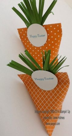 Jan Girl: Stampin' Up Easter Carrot Sour Cream Containers