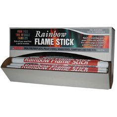 Rainbow Flame sticks fun for the whole family! Enjoy the romance of colorful blue and green flames in your next wood fire. For fireplaces, pellet stoves, woodstoves, campfires and fire pits. Just toss into a brightly burning wood fire, sit back and enjoy the fiesta of colorful flames. Long...