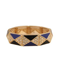 Lacquered Pyramid Bracelet