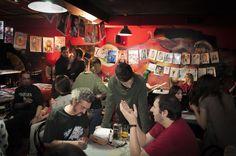 Primer Festival de la Caricatura y el Retrato. Café-Pub Living Room. 2016