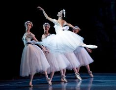 Erica Cornejo with Artists of Boston Ballet in Les Sylphides by Gene Schiavone.