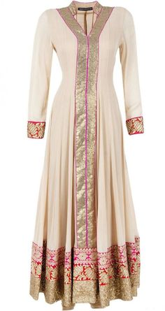 Hijab Fashion 2016/2017: Sélection de looks tendances spécial voilées Look Descreption Beige 3 borders kurta set by ANEESH AGARWAAL. www.perniaspopups...