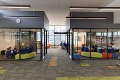 Josephine learning centre, Tasmania - the facilityprovides a transparent, flexible and multi zoned space for students.