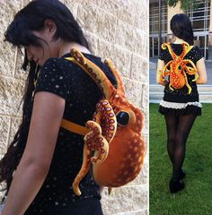 """#steampunk """"This is the plush octopus backpack made by Tumblr-er Jennifer Mones."""" octopus-backpack.jpg"""