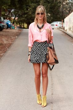 This is ambitious, but if you don't want to go for it, focus on the print with a solid top, this combo looks fantastic!